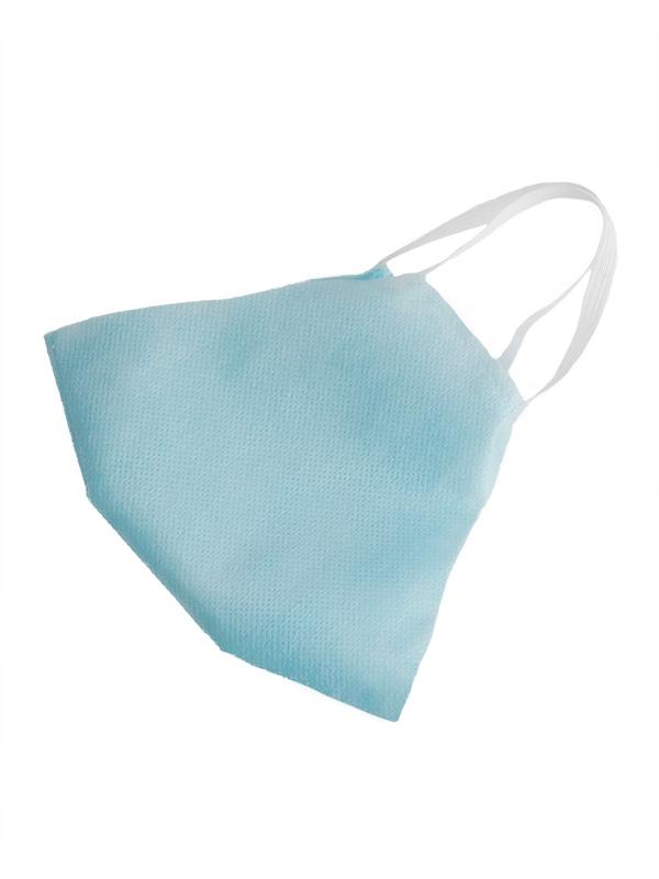 Маска бытовая двухслойная, голубой цвет, в упаковке 100 шт